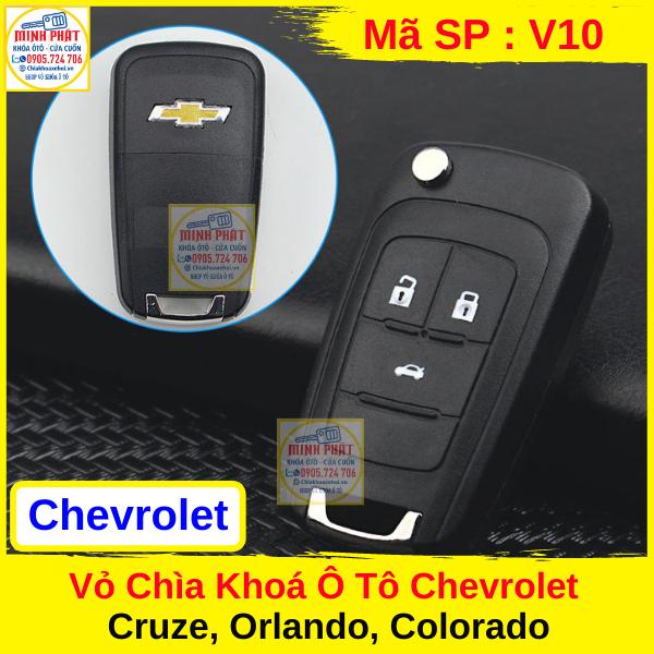 Vỏ Chìa khóa xe Ô tô Chevrolet Cruze, Orolado, Colorado, Lacetti