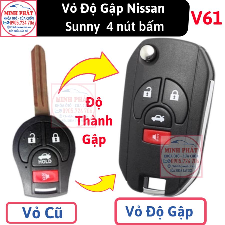 thay vỏ remote xe ô tô nissan tại Đà Nẵng