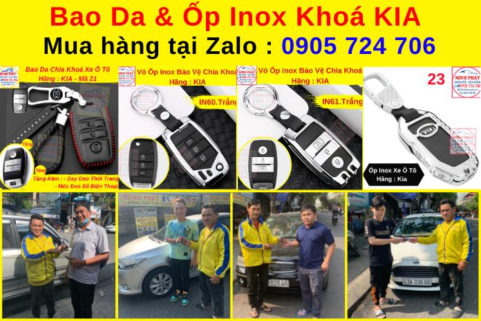 ốp inox bảo vệ chìa khoá xe ô tô kia