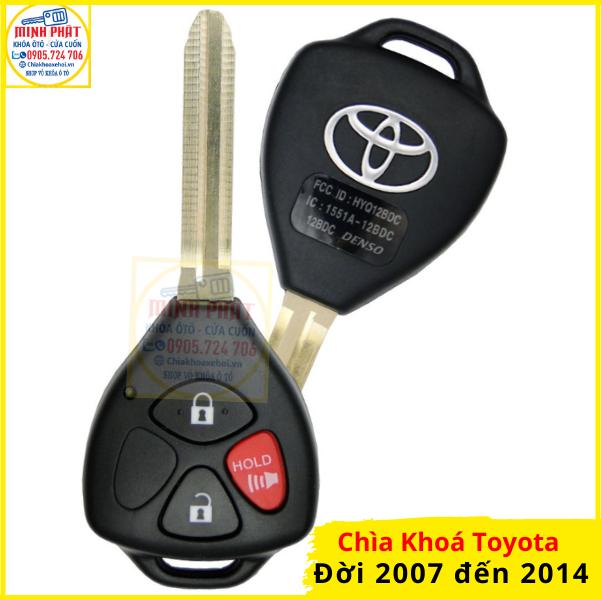 cách cài chìa khoá xe Toyota Innova, Fortuner, Altis, Vios, Hilux