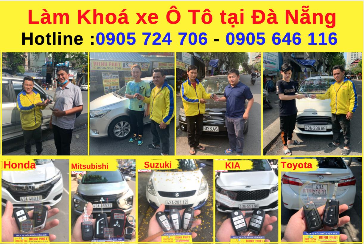 Làm remote xe ô tô tại Đà Nẵng