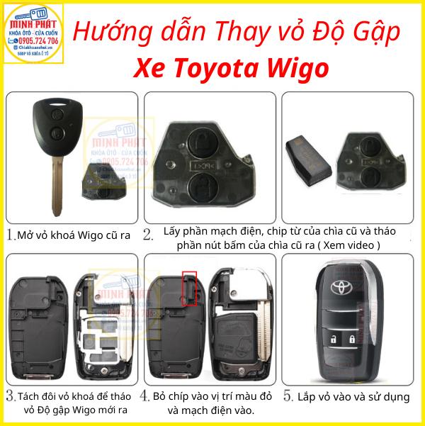 Cách thay vỏ chìa khoá xe Toyota Wigo